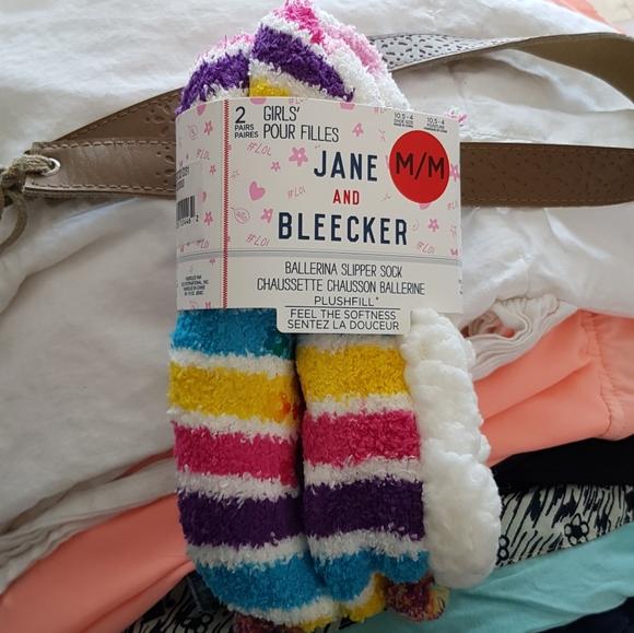 Other - Jane and Bleecker Girls' Unicorn Slipper Socks